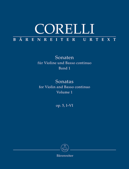 Sonatas for Violin and Basso continuo op. 5, I-VI (Volume 1)