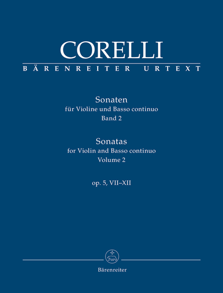 Sonatas for Violin and Basso continuo op. 5, VII-XII (Volume 2)
