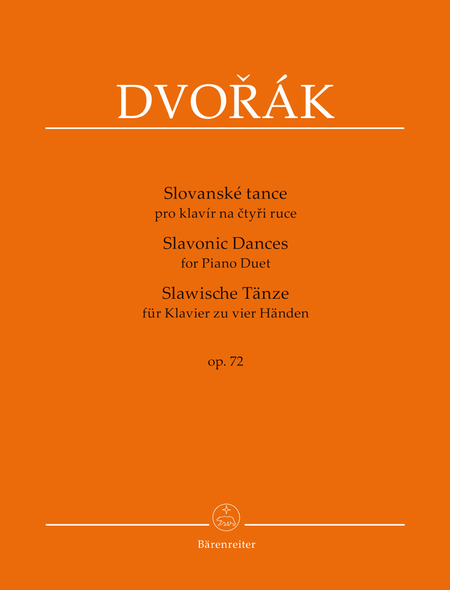 Slavonic Dances for Piano Duet op. 72