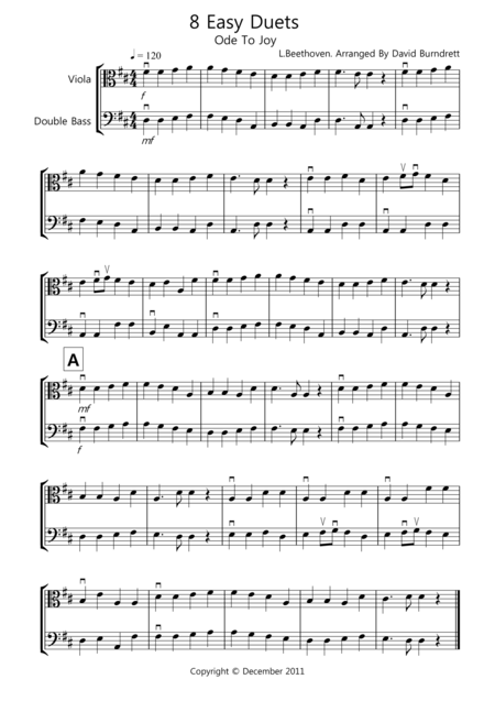 8 Easy Duets for Viola And Double Bass