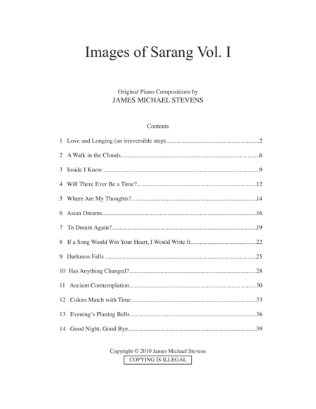 Images of Sarang, Vol. I
