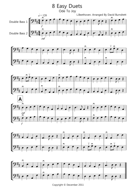 8 Easy Duets for Double Bass