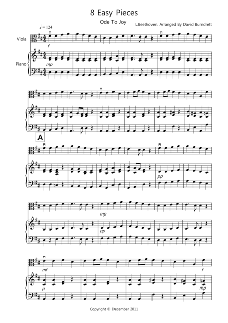 8 Easy Pieces for Viola And Piano
