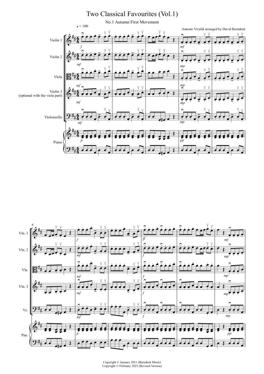 2 Classical Favourites for String Quartet (volume one)