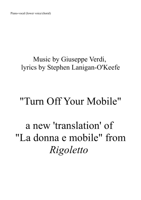 Turn Off Your Mobile (