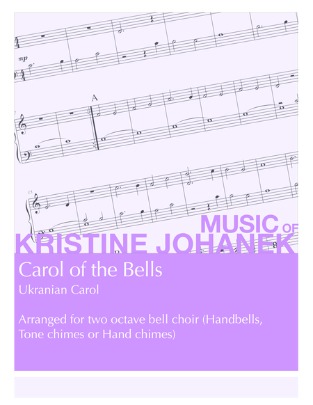 Carol of the Bells (Ukranian Carol) (2 octave handbells, tone chimes or hand chimes)