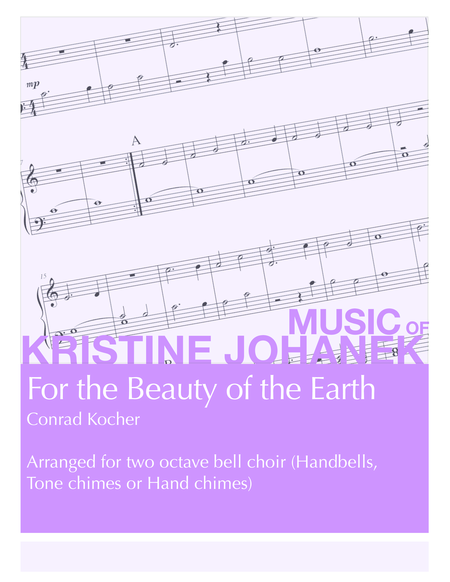 For the Beauty of the Earth (2 octave handbells, tone chimes or hand chimes)