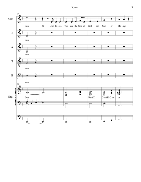 Mass of Saint Pope John Paul II (Piano/Vocal Score)
