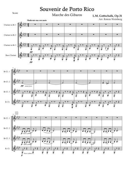 Souvernir de Porto Rico (Clarinet Quartet)