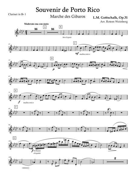 Souvenir de Porto Rico (Clarinet Quartet)