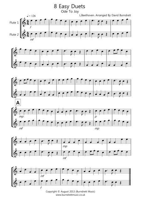 8 Easy Duets for Flute