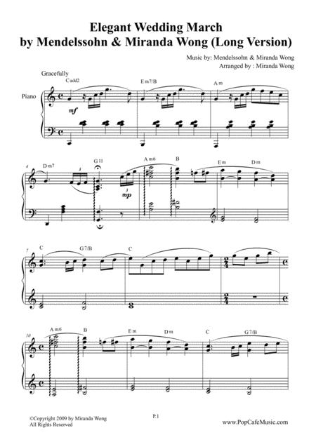 Elegant Wedding March (Long Version) by Miranda Wong
