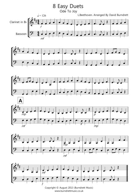 8 Duets for Clarinet And Bassoon