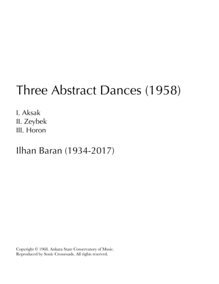 Three Abstract Dances