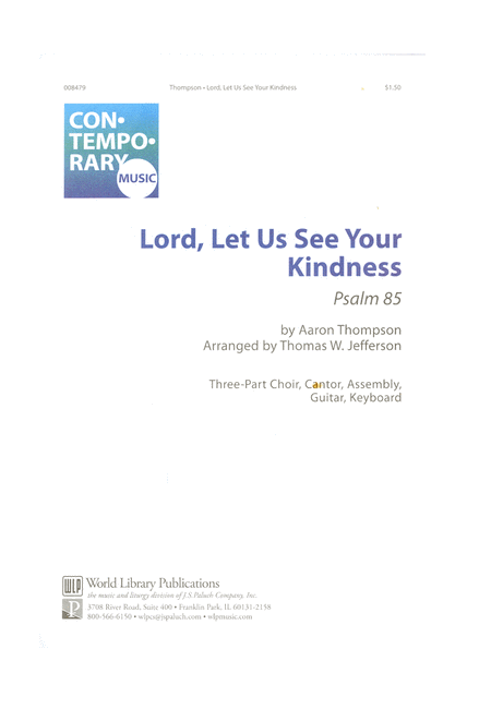 Lord, Let Us See Your Kindness