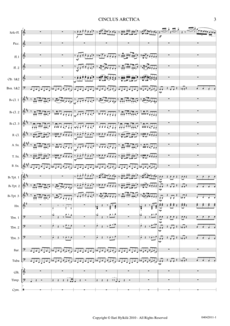 Cinclus Arctica (for Solo Flute and Concert Band)