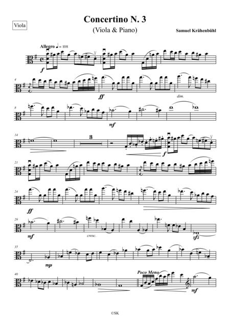 Viola Concertino N. 3 (viola part)