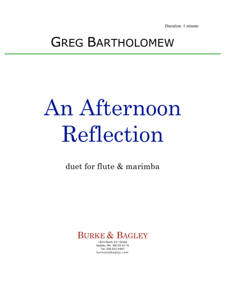 An Afternoon Reflection