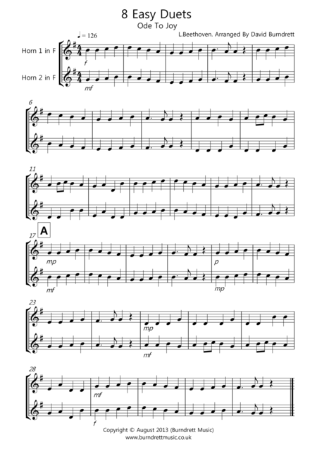 8 Duets for French Horn