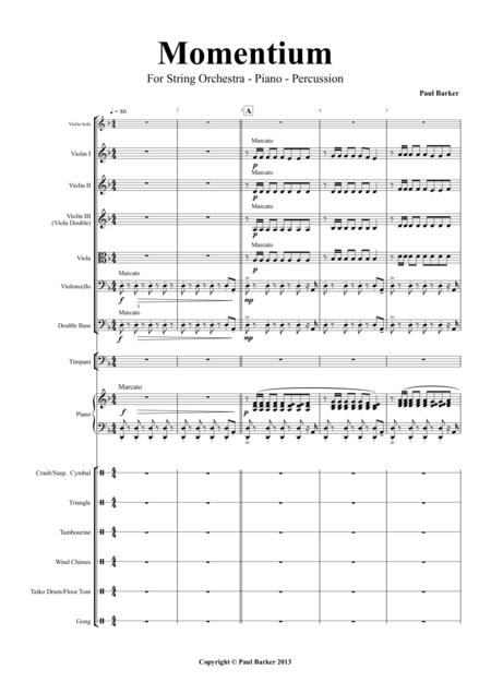 Momentium for String Orchestra - Piano - Percussion