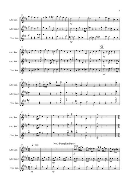 3 Halloween Pieces for Saxophone Trio