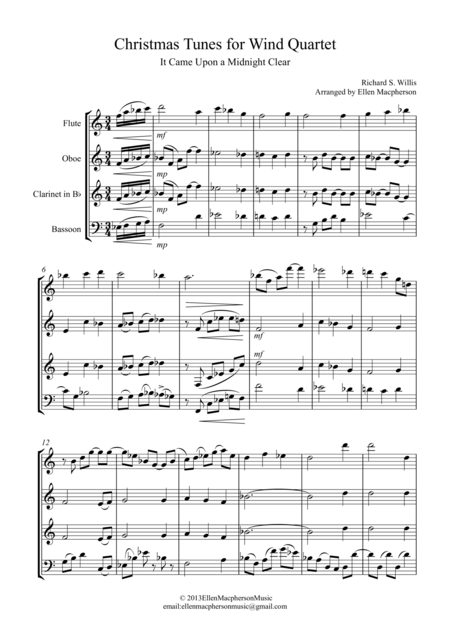 Christmas Tunes for Wind Quartet