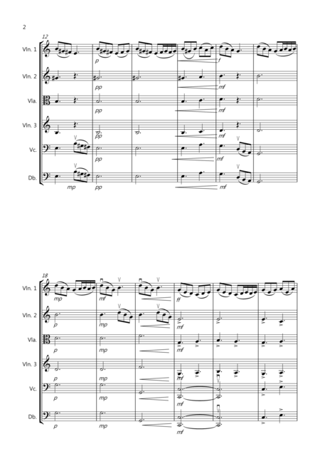 2 Pieces By Edvard Grieg for String Orchestra