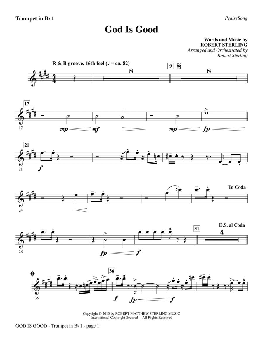 God Is Good - Bb Trumpet 1