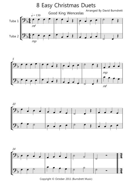 8 Christmas Duets for Tuba
