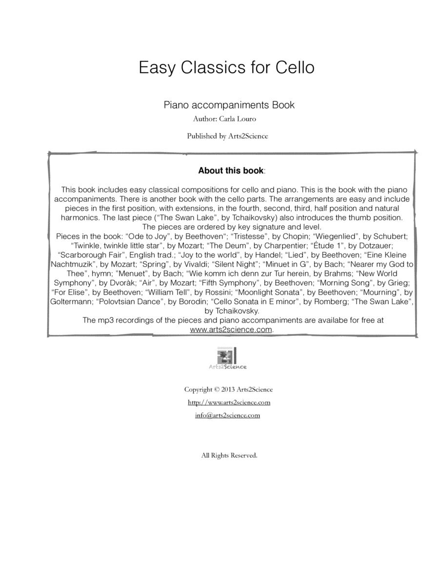Easy Classics for Cello - Piano accompaniments