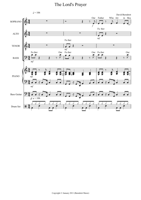 The Lord's Prayer (Gospel Style) for Choir And Piano