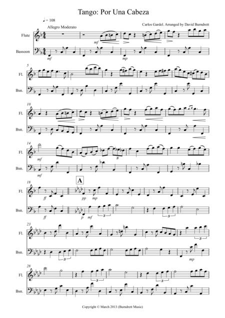 Tango Por Una Cabeza for Flute And Bassoon