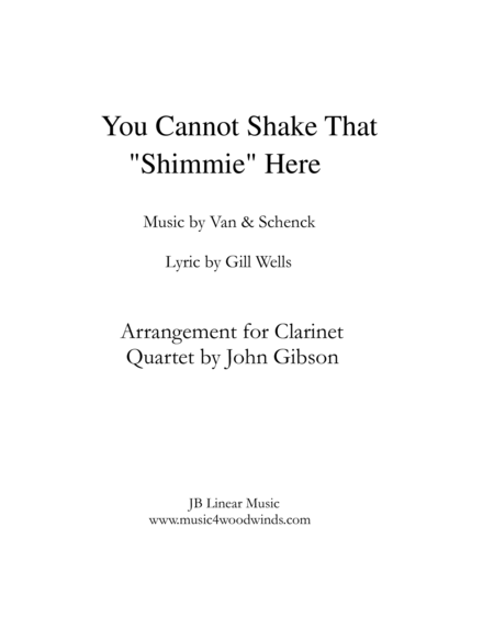 Shimmie for Clarinet Quartet