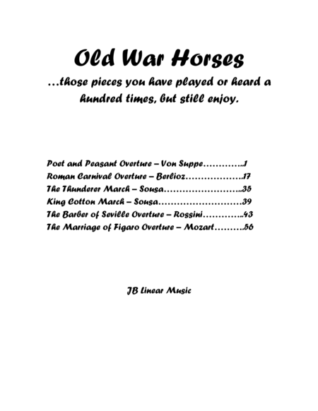 Old War Horses book for clarinet duet