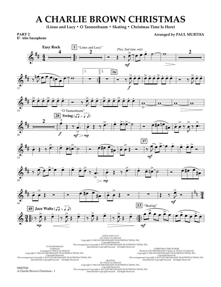 A Charlie Brown Christmas - Pt.2 - Eb Alto Saxophone