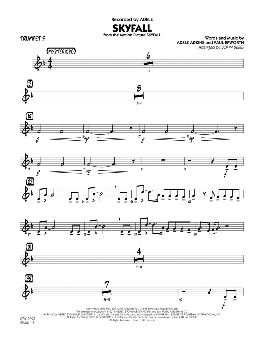 Skyfall - Trumpet 3