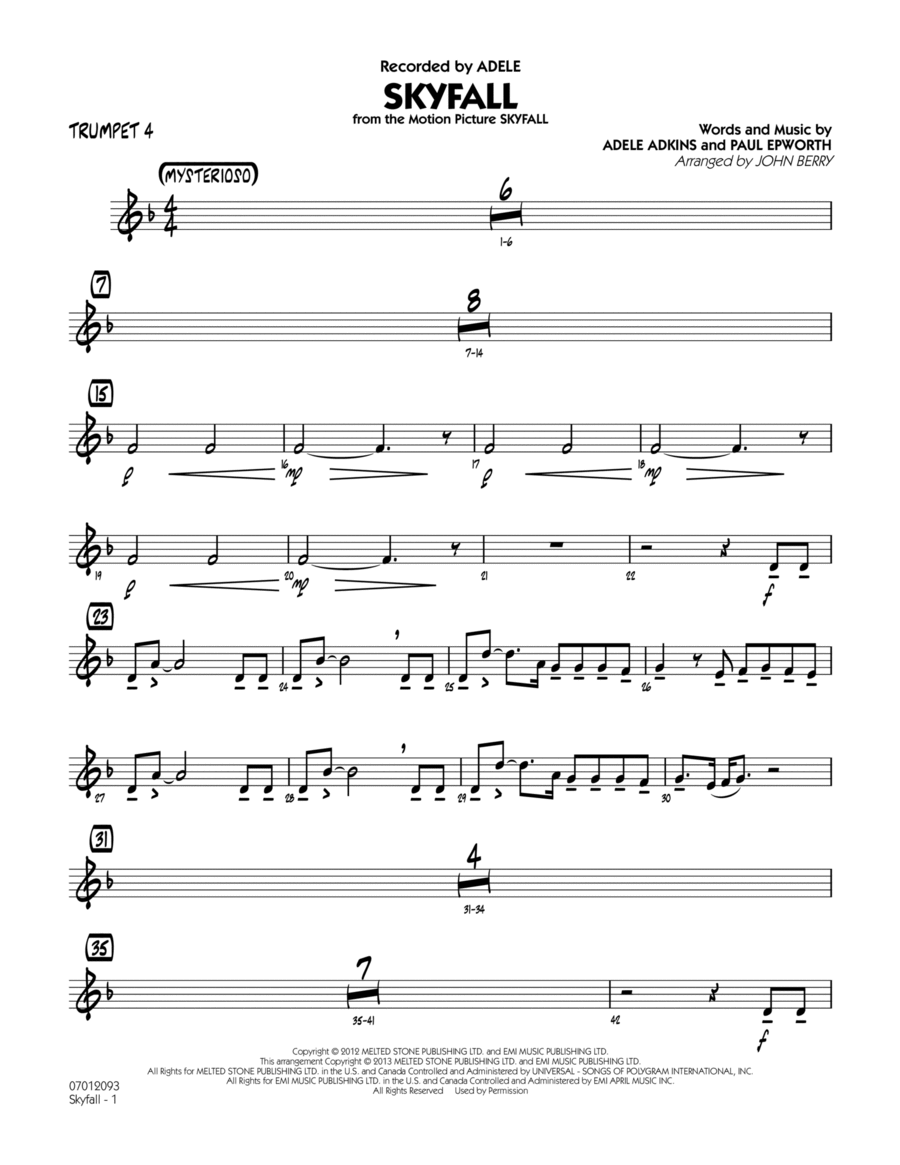 Skyfall - Trumpet 4