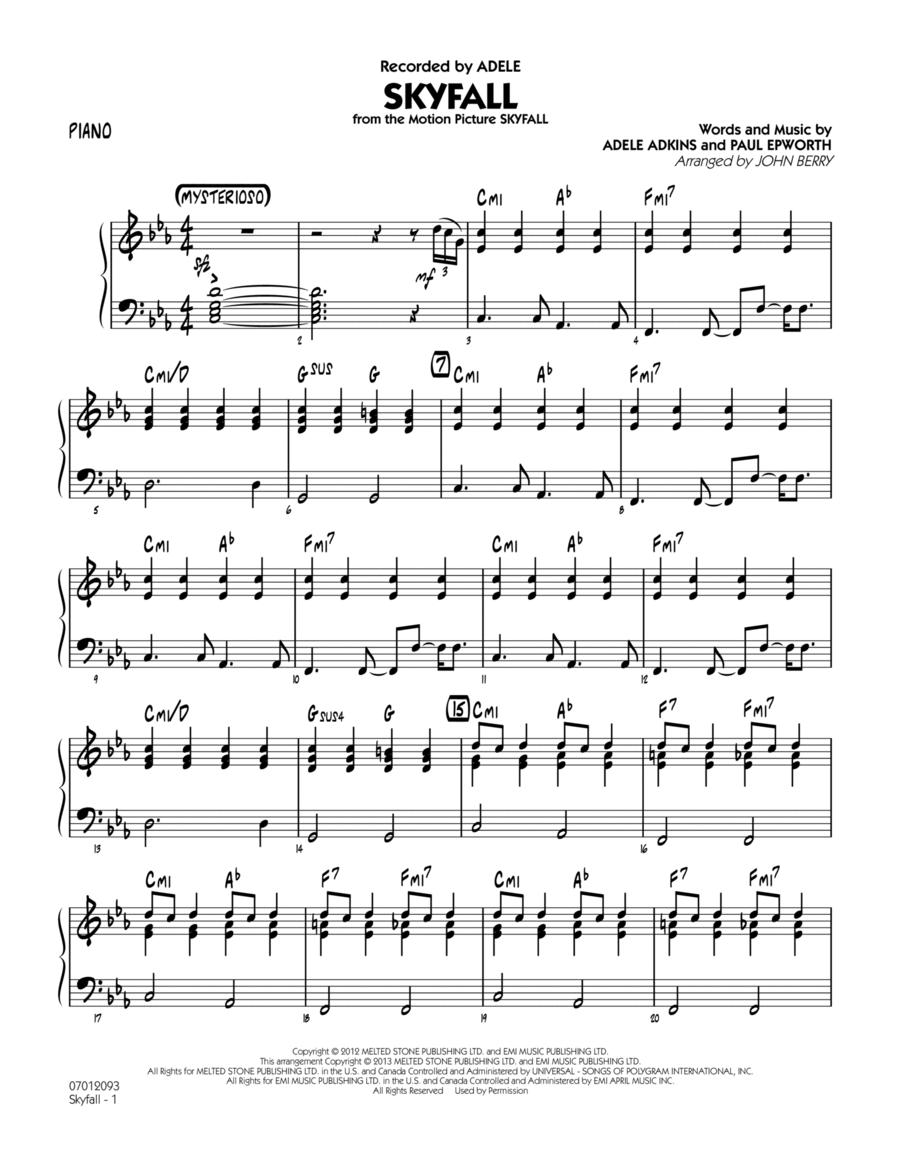 Skyfall - Piano