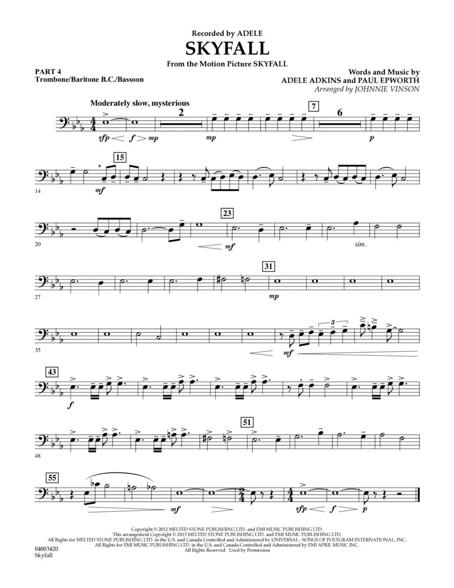 Skyfall - Pt.4 - Trombone/Bar. B.C./Bsn.
