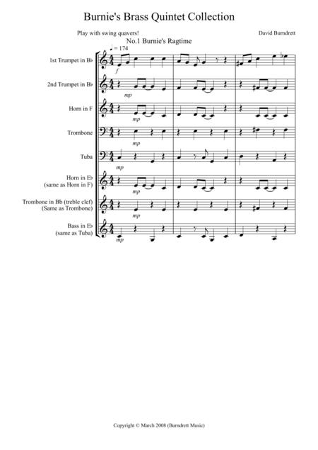 Burnie's Brass Quintet Collection