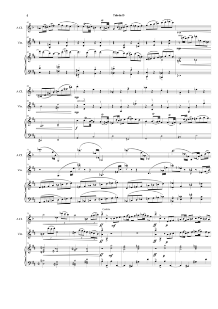 Trio for Clarinet, Violin, and Piano in D major Op. 1 #1