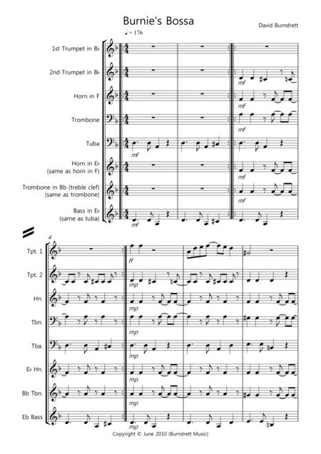Burnie's Bossa for Brass Quintet