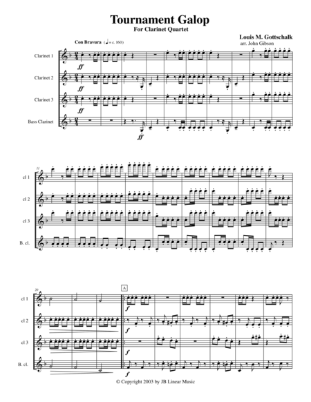 Galop for Clarinet Quartet
