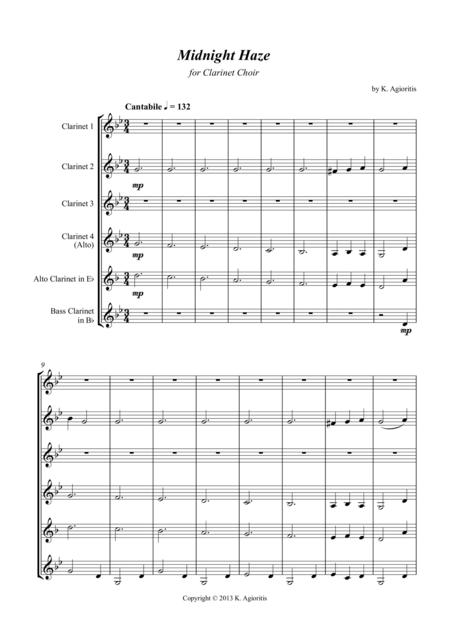 Midnight Haze - for Clarinet Choir