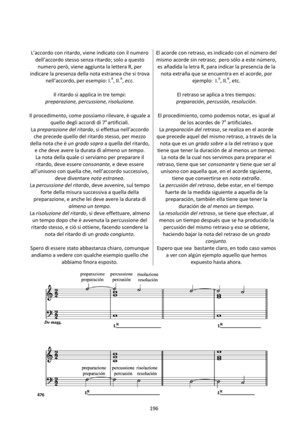 Harmony and Composition (Italian / Spanish) - Chapters 18 to 20 of 25