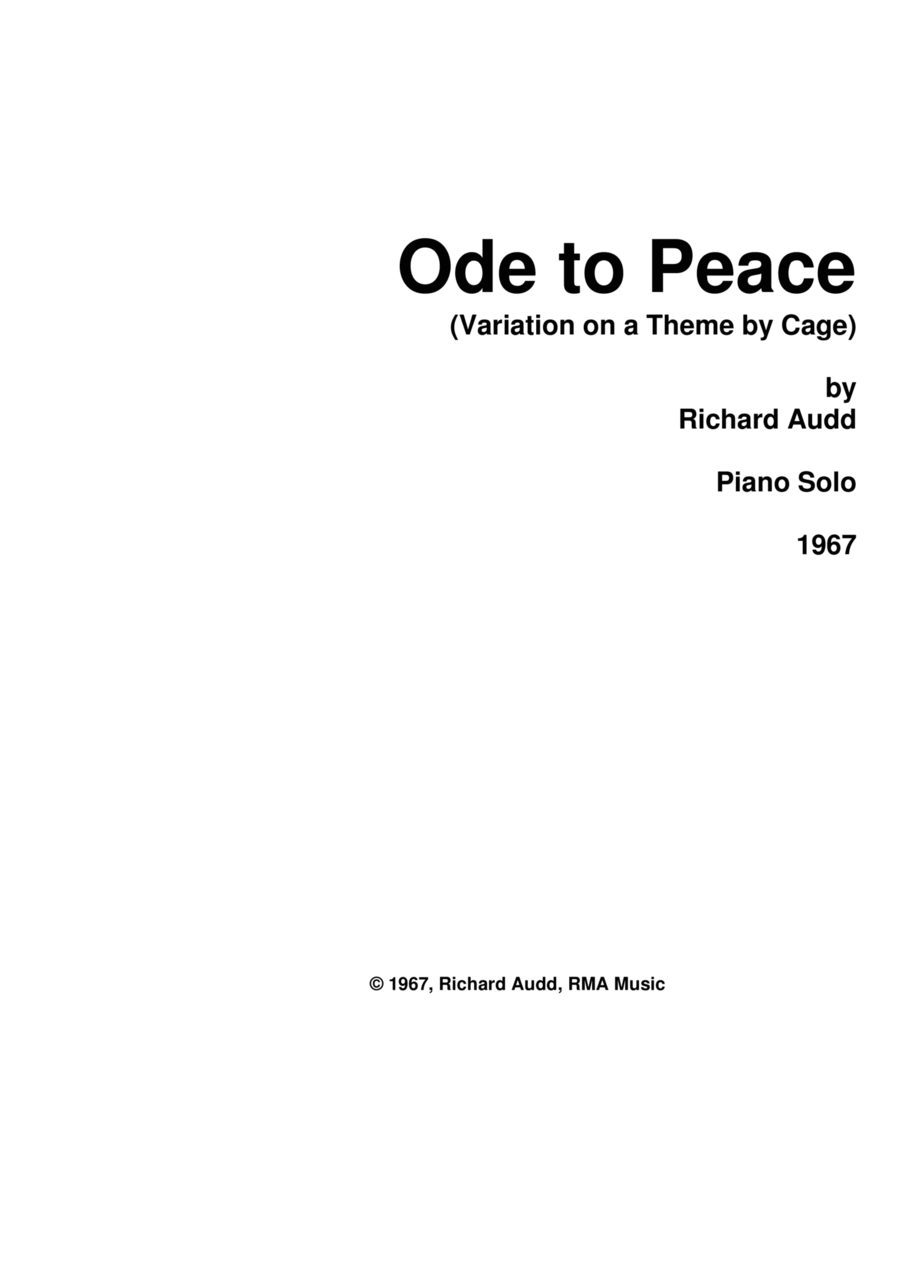 Ode to Peace