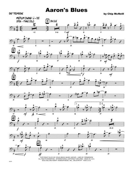 Aaron's Blues - Trombone 2