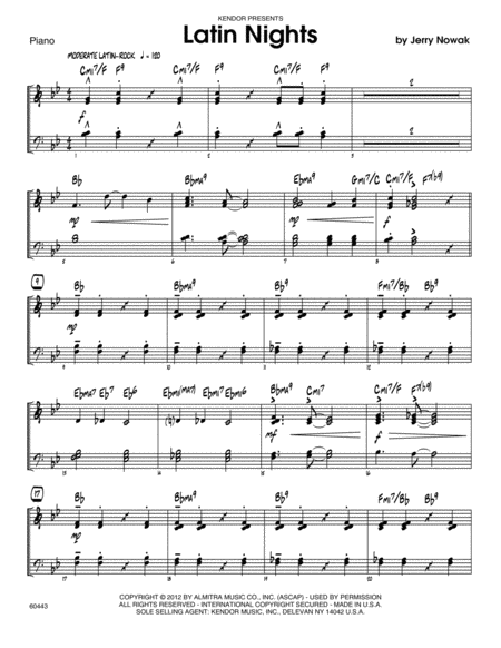 Latin Nights - Piano