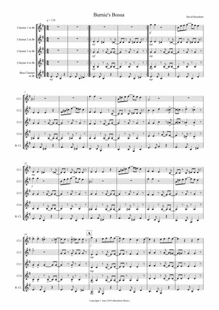 Burnie's Bossa for Clarinet Quintet