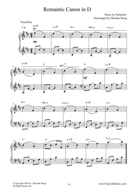 Romantic Canon in D